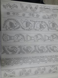 Pichwai Paintings, Indian Art Paintings, Boarder Designs, Kalamkari Painting, Sketch Painting, Painting Art, Madhubani Art, Indian Folk Art, Madhubani Painting
