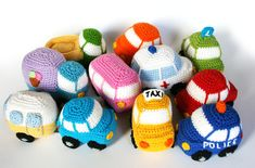 Check out our amigurumi car selection for the very best in unique or custom, handmade pieces from our stuffed animals & plushies shops. Crochet Car, Crochet Toys, Free Crochet, Double Crochet, Single Crochet, Crochet Patterns Amigurumi, Aqua Blue, Dark Blue, Crochet Projects