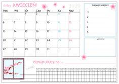 Kalendarz do samodzielnego wydruku! Pobierasz i planujesz :) Map, How To Plan, Words, Maps, Horse