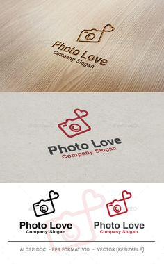 Photo Love Logo — Vector EPS #heart #symbol • Available here → https://graphicriver.net/item/photo-love-logo/9993172?ref=pxcr