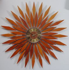 anstey and wilson sunburst clock available for sale on mid century pinterest prepping a mod and midcentury modern