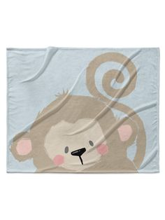 Monkey Velveteen Blanket by Kavka Designs at Gilt