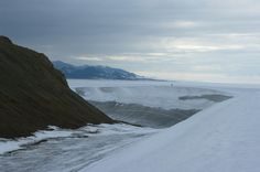 Quttinirpaaq National Park - Ward Hunt Island. It has just a bit of ice built up around the edges.