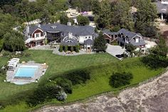 Ozzy and Sharon Osbourne bought this 10,953-square-foot Hidden Hills, Calif., home for an estimated 10 million. The home has six bedrooms, 10 bathrooms and sits on a 2.3-acre lot. Other celebrities that reportedly live in Hidden Hills include Denise Richards, Matt Leblanc and Lisa Marie Presley. Ozzy and Sharon sold their former Beverly Hills mansion - where their MTV reality series was filmed - to Christina Aguilera and her husband, Jordan Bratman, for roughly 11 million.
