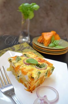 Pumpkin frittata with feta cheese andbasil by Chef in Disguise