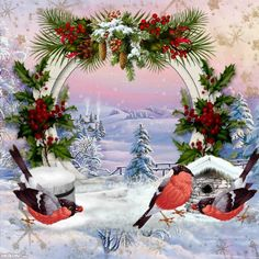 Happy winter frame from Imikimi. Click through to add your photo to this background.  #winter #screensaver #background ... pinned with Pinvolve - pinvolve.co