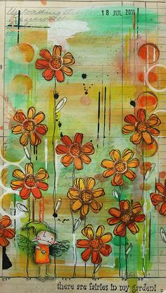Art Journal - Fairies in my garden | Flickr - Photo Sharing!