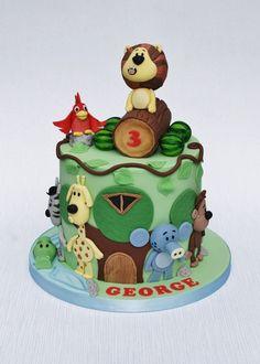 Raa Raa the noisy lion cake Lion Cakes, Jungle Cake, Twin Birthday, Sweet Life, Celebration Cakes, Twins, Wedding Cakes, Gemini, Twin