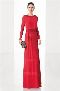 Sheath/Column Jewel Floor-length Chiffon Mother of the Bride Dress