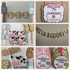 Items similar to Milk and Cookies Party Kids Birthday Themes, Kids Party Themes, 2nd Birthday Parties, Party Ideas, Popular Birthdays, First Birthdays, Milk Cookies, Cookie Cakes, Holiday Invitations