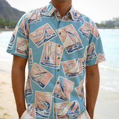 Labor Day has now come and gone and it's time for a revamp. Freshen up your look with a light weight, trim fit #AlohaShirt.