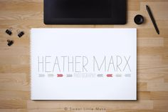 Pre-Made logo - Photography Logo - Modern Arrow Logo - chevron logo