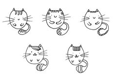 Round Cats by Buni Line on @creativemarket