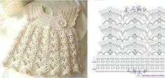 Hermoso vestido tejido a crochet