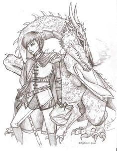 Eragon and Saphira by Pilgrimwanders.deviantart.com