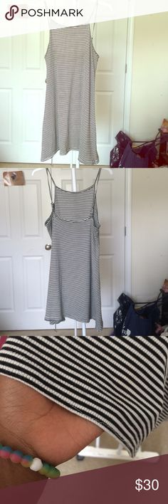 Cute striped dress⚫️⚪️ Striped dress you can dress up or down and all year around!!                                              Please make an offer!!!! American Eagle Outfitters Dresses Mini