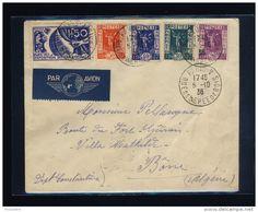VENTE FLASH Lot B_096 - 1936 - N°322/5 & 327 EXPOSITION INTERNATIONALE PARIS 1937 (- le 90c) SUR LSC AVION PARIS-ALGÉRIE - Delcampe.net