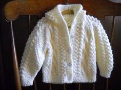 Irish Knit Hooded Sweater by CedarHillKnits on Etsy, $40.00