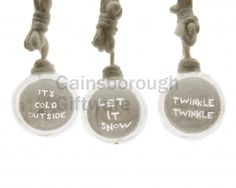 Glass Baubles With Text, 3a @ gainsboroughgiftware.com