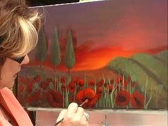 Learn to paint light... Online Art Class at the Art Apprentice Online http://store.artapprenticeonline.com/acrylic-poppy-fields-at-dawn-with-instructor-neadeen-masters-cda/