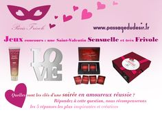 #Concours de la St Valentin avec @SarahFrivole et #Passagedudesir