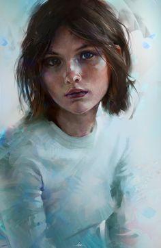 Portrait Colour Study, Aaron Griffin on ArtStation at https://www.artstation.com/artwork/0B33y