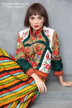 Batik Amarillis made in Indonesia proudly presents Batik Amarillis's Girl Meets Boy 2 ❤️ such a gorgeous jacket which full of beautiful complexities such as the patch work of batik/tenun gedog , Hungarian embroidery inspired and smocking fashionphotography#fashioneditorial#batikindonesia#madeinindonesia#embroidery