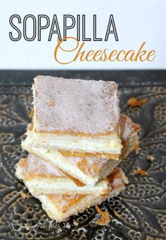 Sopapilla Cheesecake, also known as Churro Cheesecake.  So easy and delicious!  A yummy addition to your Cinco de Mayo celebration!