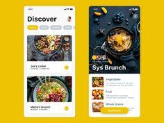Restaurant booking app – Design is art Mobile Application Design, Mobile Ui Design, App Ui Design, User Interface Design, Flat Design, Design Thinking, Motion Design, Restaurant App, Restaurant Design