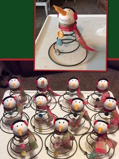 Snowman's made from Old Bed Springs & Vintage Buttons
