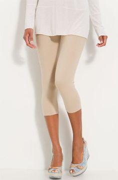 Stretch Cotton Capri Crop Seamed Leggings Tights - http://cheune.com/a/78897940879687665