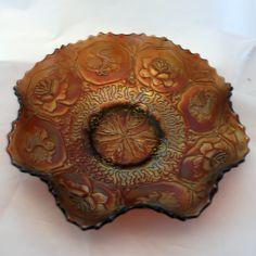 Fenton 'Dragon & Lotus' Amethyst Carnival glass bowl