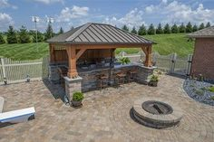 Love this project, So happy we could complete. Paver Patio with a covered bar and complete outdoor kitchen!