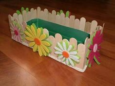 Clothes Pin Crafts For Kids Mothers New Ideas Kids Crafts, Diy Home Crafts, Easter Crafts, Diy Popsicle Stick Crafts, Popsicle Sticks, Diy Para A Casa, Art N Craft, Mothers Day Crafts, Spring Crafts