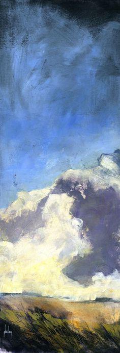 Semi-abstract landscape original painting - Winter prospect