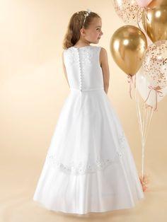 LWCD39 Communion Dress Holy Communion Dresses, First Holy Communion, Bodice, Neckline, Little White, Tulle, Flower Girl Dresses, Satin, Wedding Dresses
