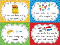 Mega Word Work FREEBIE from Fabulous Firsties. Love these task cards! So colorful and kid-friendly!