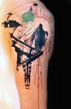 90 Snowboard Tattoo Designs für Männer Cool Tinte Ideen Tattoos Ideen