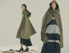 Hooded Wool Coat Jacket, Cool Cloak in Green, Wool Cape in Green, Winter Jacket for Women by camelliatune on etsy