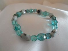 Bracelet  Blues and Greens Glass Beaded by YouniquelyElegant, $18.00