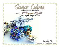 A Step by step Beading Pattern with full colour diagrams and written Tutorial on how to create these 3 dimensional small Cubic Right Angle Weave beaded cubes.