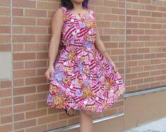 robe imprimée africain par FrempcdesignBoutique sur Etsy
