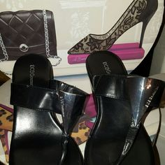 BCBG wedges Black with silver accent on front BCBGeneration Shoes Wedges