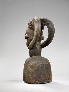 Bangwa Ngkpwé Headdress, Cameroon Grand Palais, Art Museum, Bottle Opener, Statue, Headdress, Arts, Collection, Africa, Stone