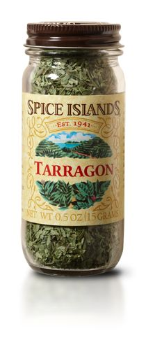 TARRAGON  There are two main varieties of tarragon, Russian and French. While their flavors are similar, French tarragon tends to have a more pungent flavor and aroma.     We source our Spice Islands® tarragon from the highest-quality French tarragon. Not only is it more pungent, but its deep green color adds a visual spark to recipes.    Tarragon pairs well with chicken, fish and egg dishes. And is a key ingredient in French Béarnaise sauce.