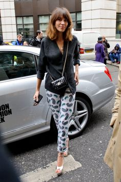 alexa chung - lfw aw12 those heels are to die for! so hip yet alexa made a way to combine and be a classy girl as always