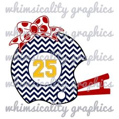 Digital File - Chevron Football Helmet With Bow and Monogram with SVG, DXF, PNG Commercial & Personal Use