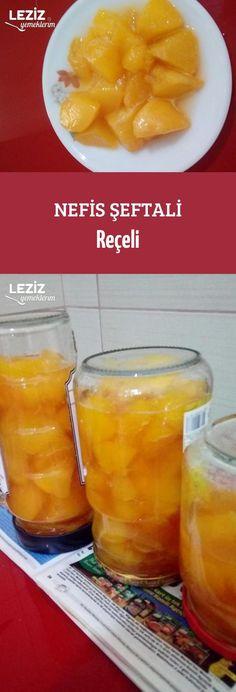 Nefis Şeftali Reçeli Turkish Recipes, Dessert Recipes, Desserts, Cantaloupe, Spices, Food And Drink, Yummy Food, Fruit, Health