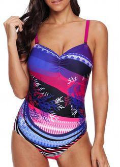0fefa486cec49 Cheap One-Piece Swimsuits Spaghetti Strap Cutout Back One Piece Swimwear