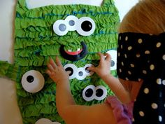 Amanda's Parties TO GO: {GUEST POST} Pin the Eye on the Monster Game